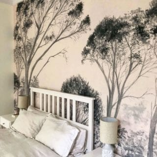 Make a bold statement with a wallpaper mural. NewWall product installed at a private residence. DM us if you have any questions.