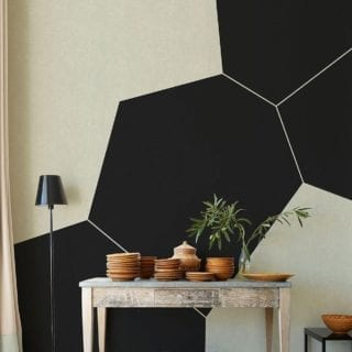 "All you need is one wall for that statement piece. 🔍 ""Mel"" wallpaper designed and produced in Spain by @tres_tintas_barcelona. Available at NewWall."